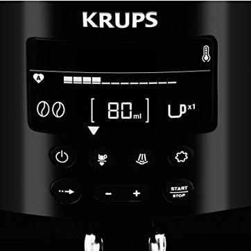 KRUPS EA8150 Kaffeevollautomat (1,8 l, 15 bar, LC Display, CappuccinoPlus-Düse) schwarz -