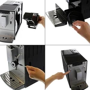 Melitta E 957-103 Kaffeevollautomat Caffeo Solo & Perfekt Milk (Cappuccinatore) silber -